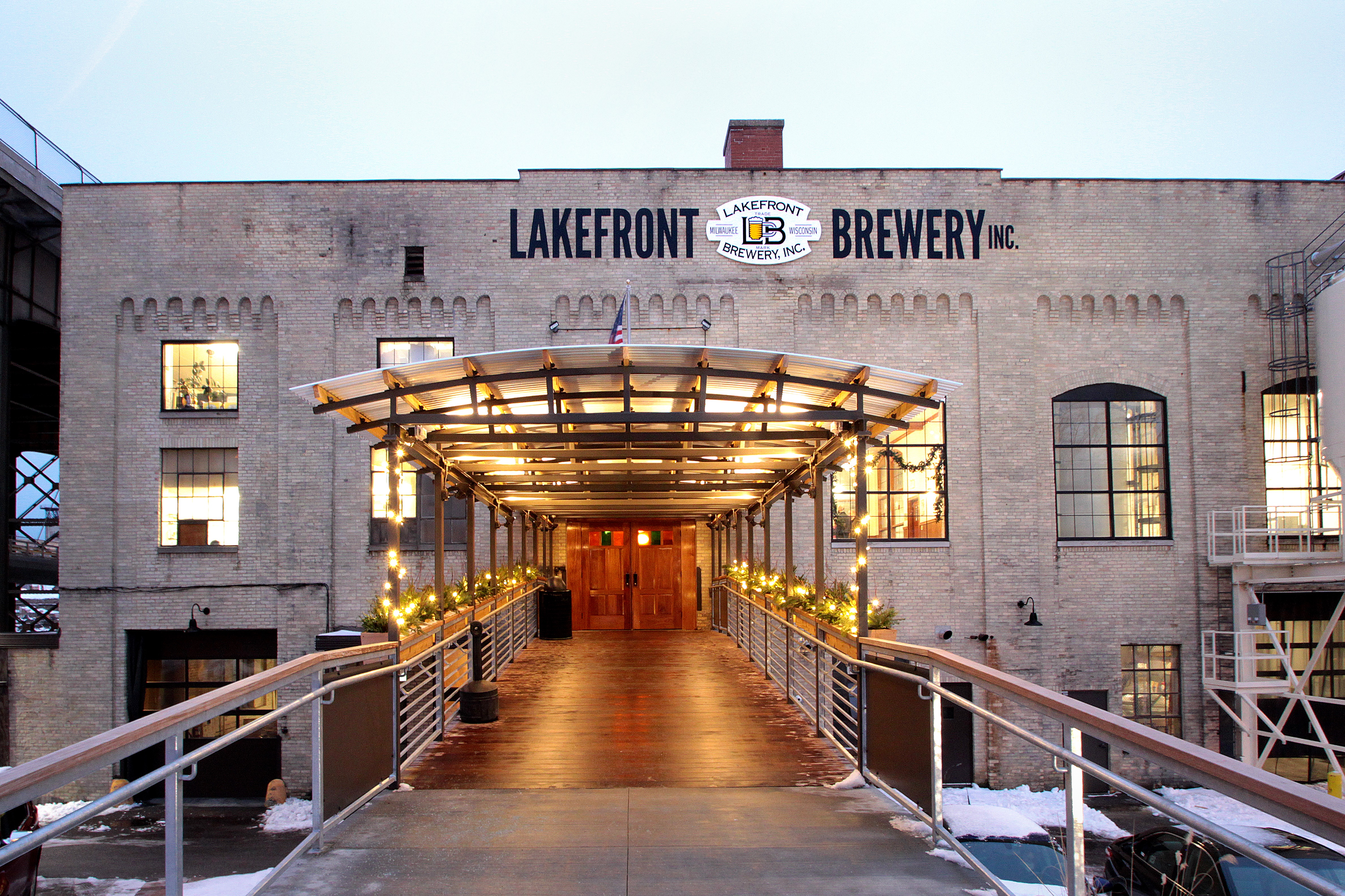 Lake Front Brewery Entrance